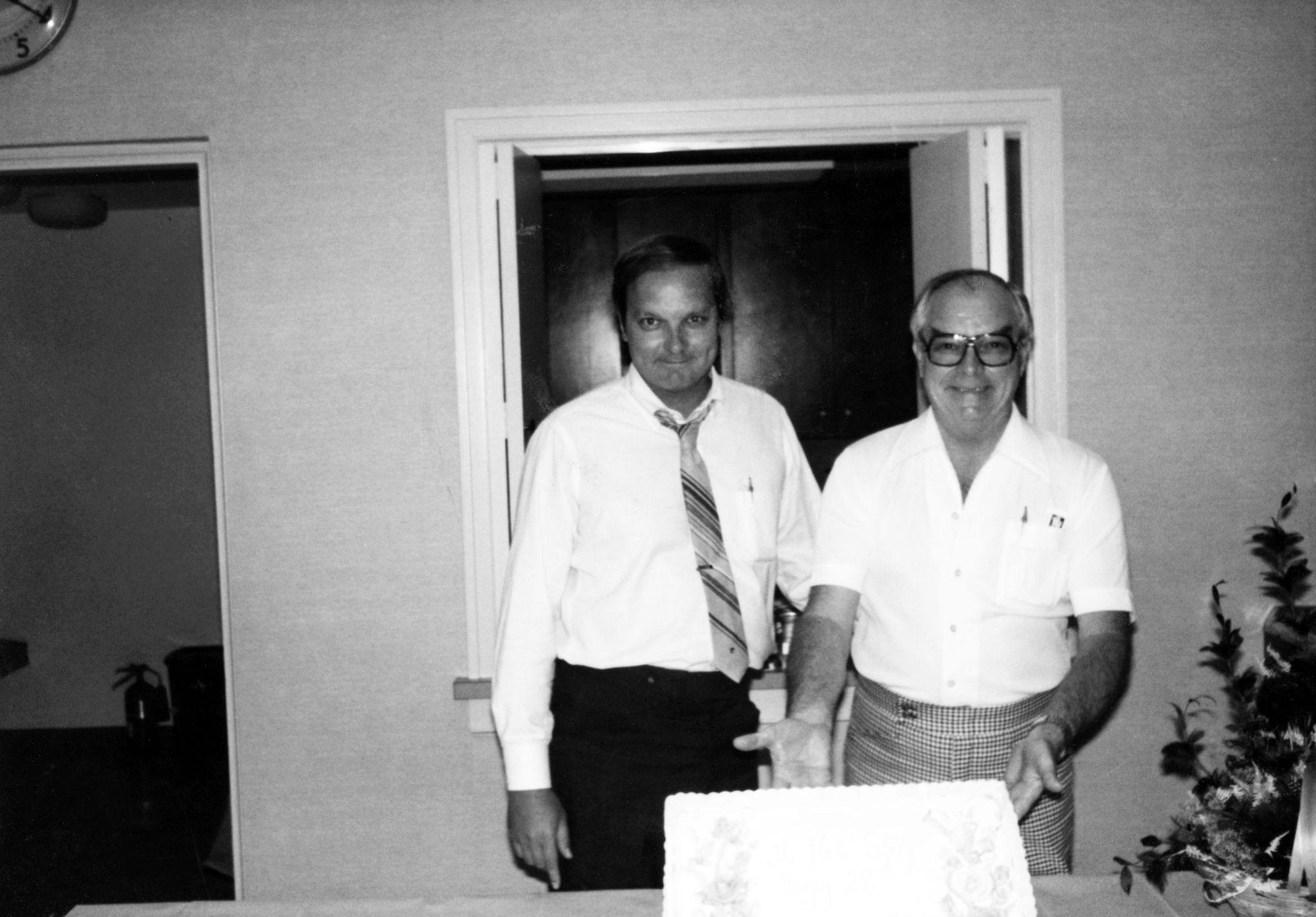 Bob McNichols and his son Gene McNichols