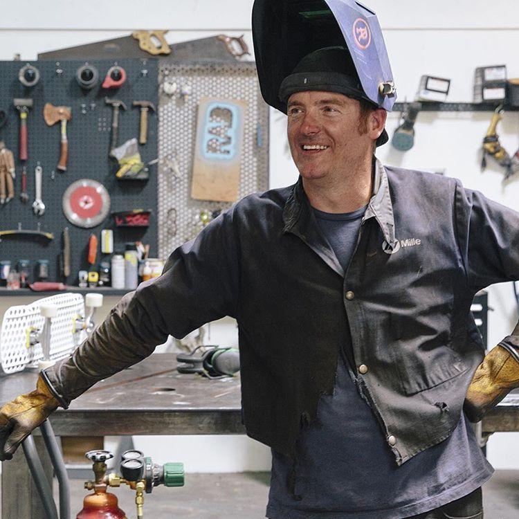 Ryan Anderson in his welding gear