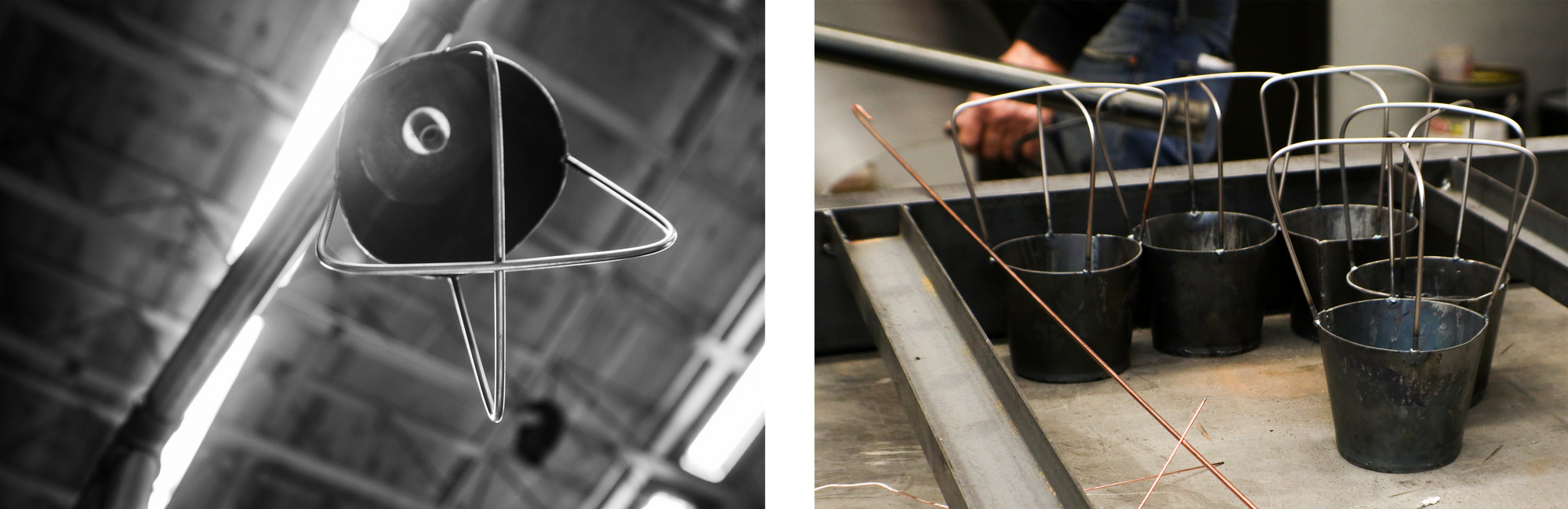The team at Blackrock creates miniature models of pendant structure before fabricating the final design.