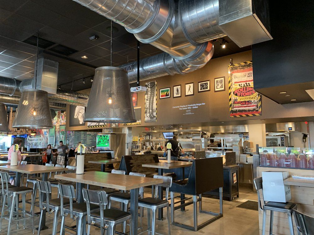 Completed fixtures installed in Hopdoddy Orlando