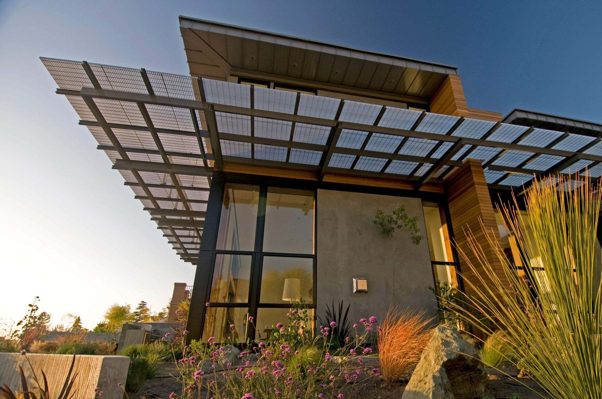 McNICHOLS® aluminum bar grating used for a home's eco-friendly cooling system