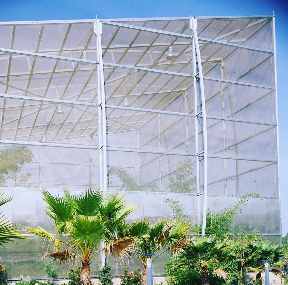 wire mesh used to create a ventilated enclosure for the