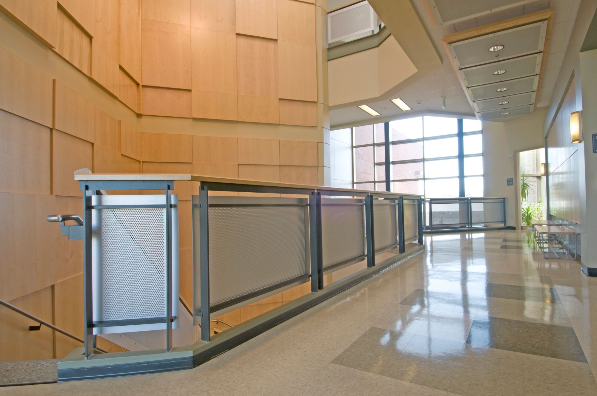 perforated metal infill panels used at Spokane Community College