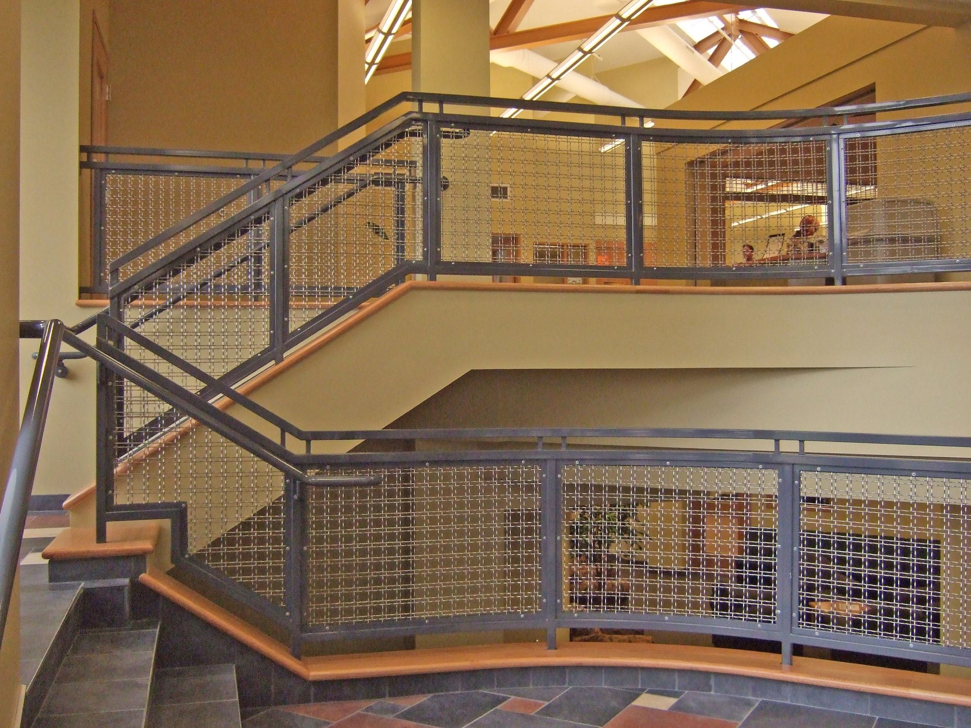 TECHNA 3150 designer mesh used to create infill panels at Walsh University