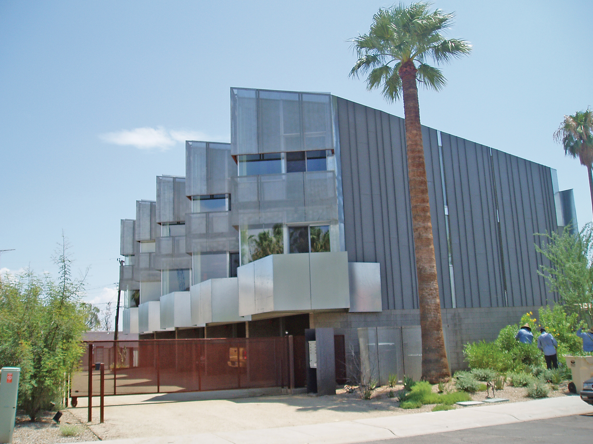 perforated metal sunshades at Loloma Townhomes 5 in Scottsdale