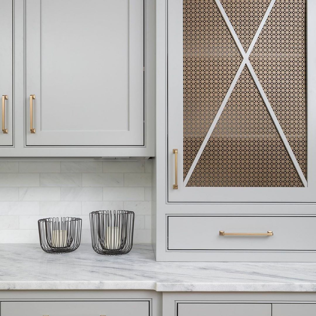 GRECIAN Perforated Metal cabinet inserts