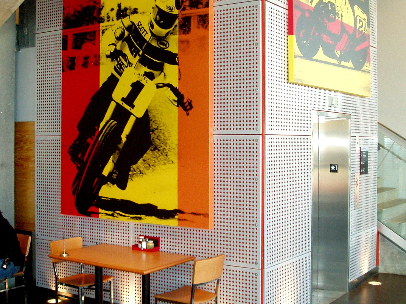 Perforated Metal used as decoration at the Harley-Davidson museum