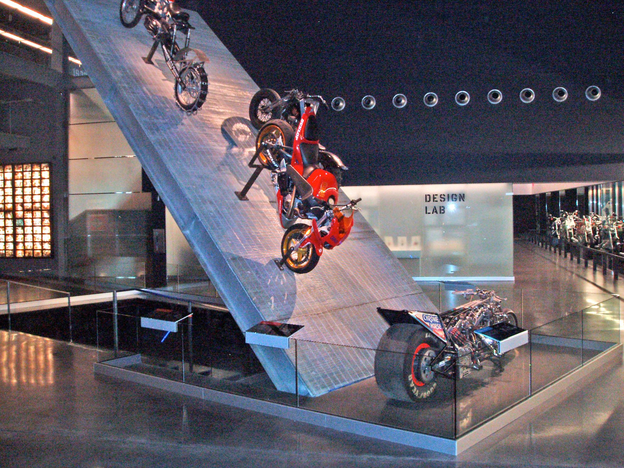 McNICHOLS® Bar Grating used to create this display at the Harley-Davidson Museum