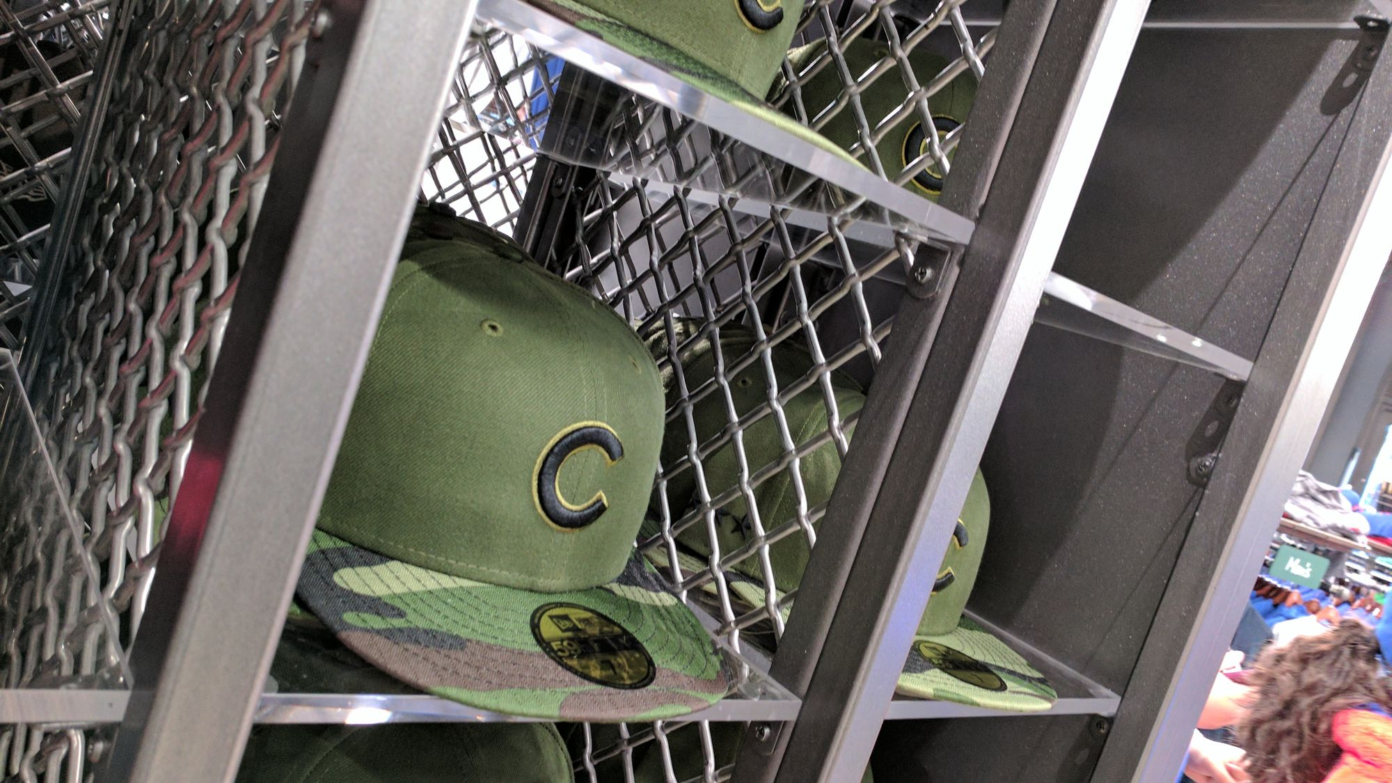 Lock Crimp Wire Mesh in Cubs team store
