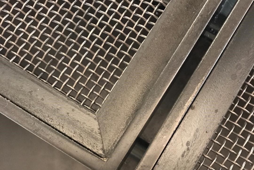 Plain Weave Wire Mesh framed by Architectural Elements