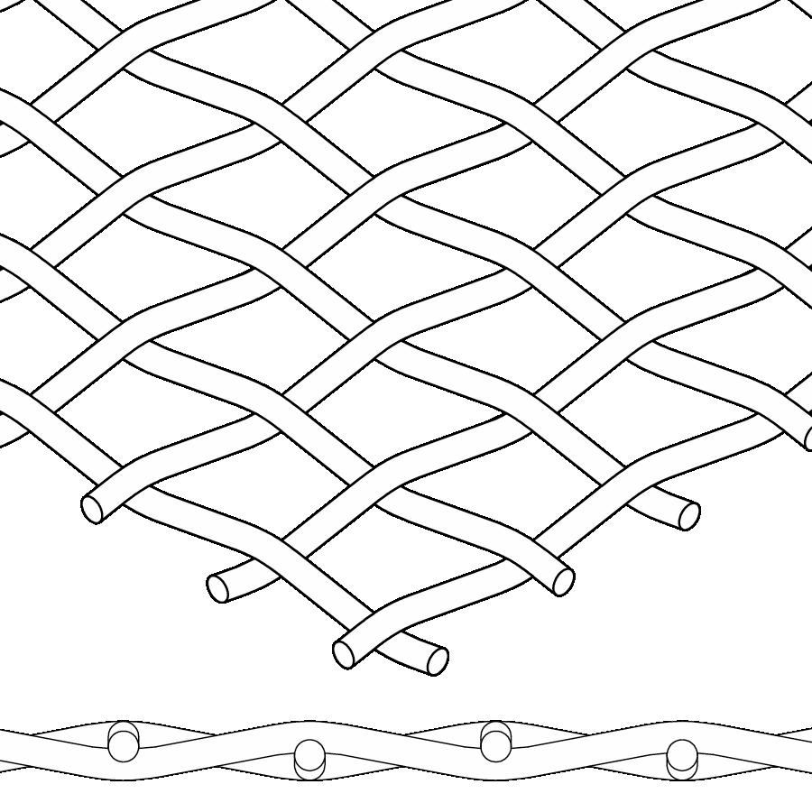 plain wire mesh