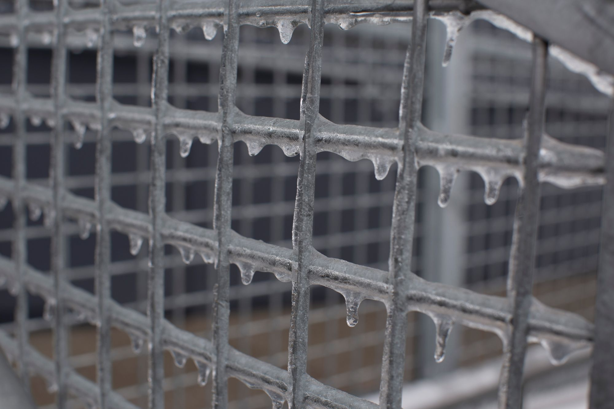 Welded Wire Mesh fence during winter freeze