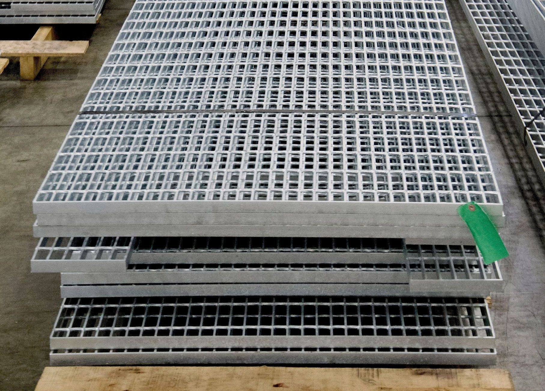 Stacks of banded Bar Grating panels at McNICHOLS® Metals Service Center