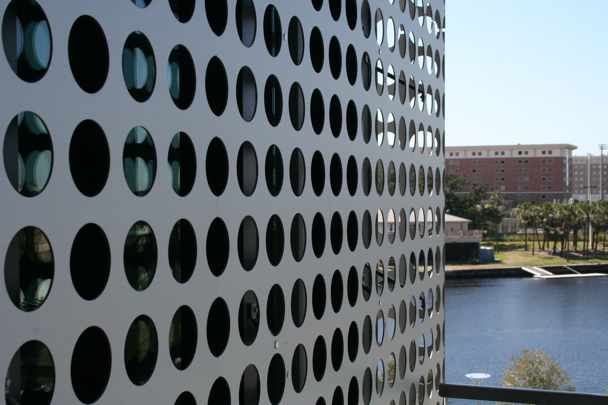 Aluminum Perforated Metal anodized for corrosion-resistance and a smooth appearance | Tampa Museum of Art