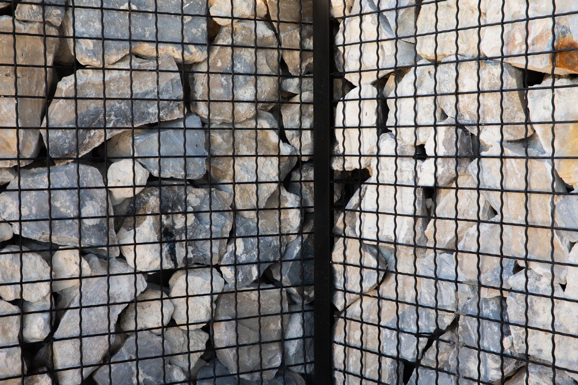 McNICHOLS ECO-ROCK® gabions made from Intercrimp Wire Mesh