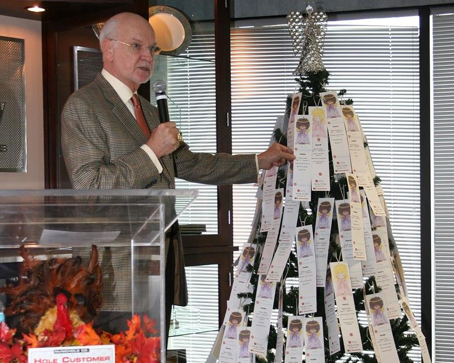 Gene McNichols, company Chairman and CEO, introducing the 2014 seasonal Angel Tree