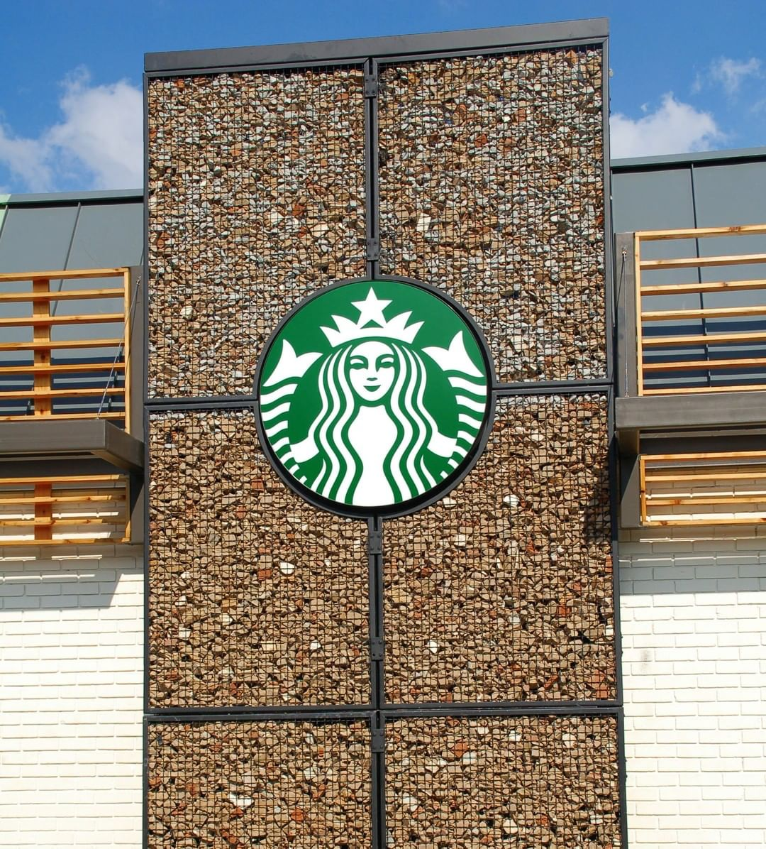 ECO-ROCK® used for a facade at a NC Starbucks location