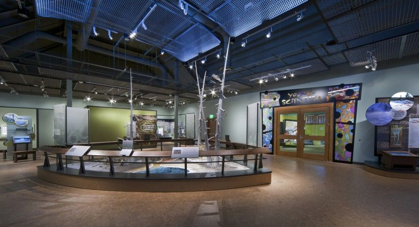 Exhibit Area Inside Old Faithful Visitor Education Center at Yellowstone National Park